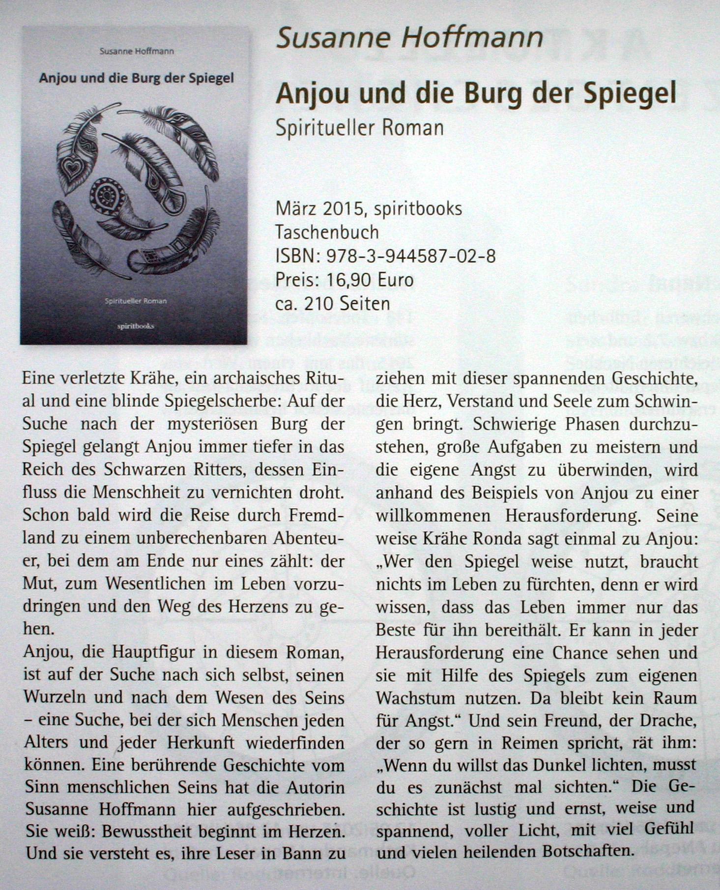 Rezension Allgeiers Sternbild 07.2015 Anjou und die Burg der Spiegel